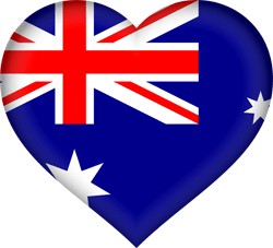 Flag of Australia - Heart 3D
