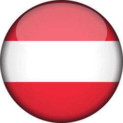 Flag of Austria - 3D Round