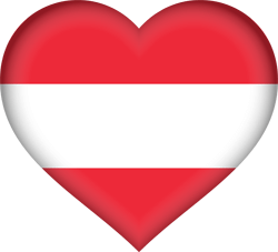 Austria flag vector - free download