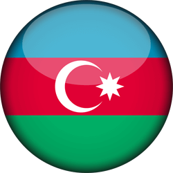 Flag of Azerbaijan - 3D Round