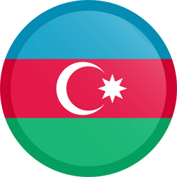 Flag of Azerbaijan - Button Round