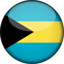Flag of the Bahamas - 3D Round