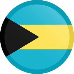 Flag of the Bahamas - Button Round