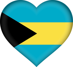 Flag of the Bahamas - Heart 3D