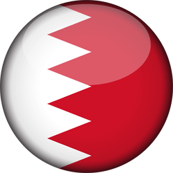 Flag of Bahrain - 3D Round