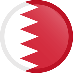 Flag of Bahrain - Button Round