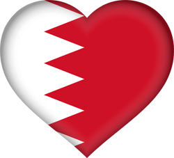 Flag of Bahrain - Heart 3D