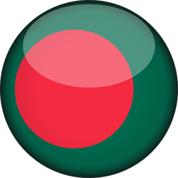 Flag of Bangladesh - 3D Round
