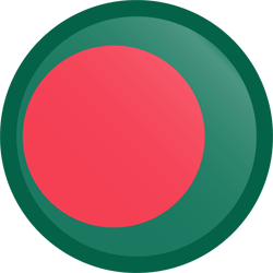 Flag of Bangladesh - Button Round