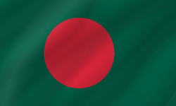 Drapeau du Bangladesh - Vague