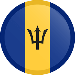 Flag of Barbados - Button Round