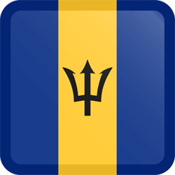 Flag of Barbados - Button Square