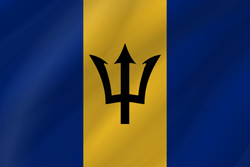 Barbados flag icon - free download