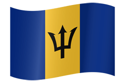 Flag of Barbados - Waving