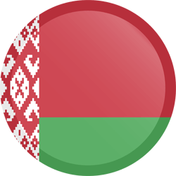 Flag of Belarus - Button Round
