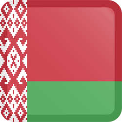 Flag of Belarus - Button Square