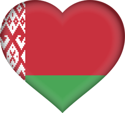 Flag of Belarus - Heart 3D