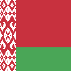 Flagge der Republik Belarus - Quadrat