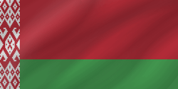 Flagge der Republik Belarus - Welle