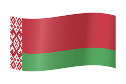 Flag of Belarus - Waving