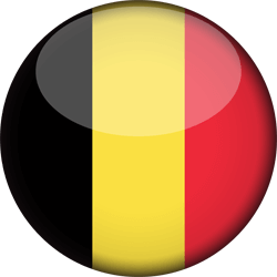 Flag of Belgium - 3D Round