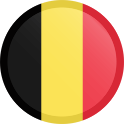 Flag of Belgium - Button Round