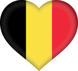 Flag of Belgium - Heart 3D