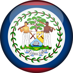 Flag of Belize - 3D Round