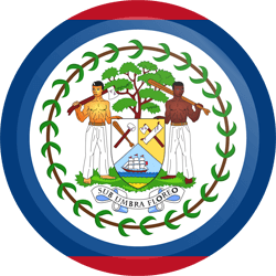 Flag of Belize - Button Round