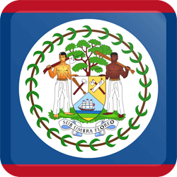 Flag of Belize - Button Square
