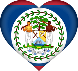 Flag of Belize - Heart 3D