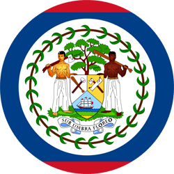Flag of Belize - Round