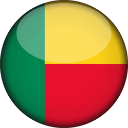 Flag of Benin - 3D Round