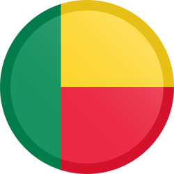 Flag of Benin - Button Round