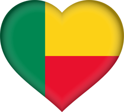 Flag of Benin - Heart 3D