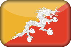Bhutan flag icon - free download