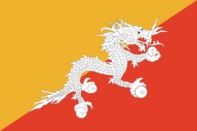 Flagge von Bhutan Bild - Gratis Download