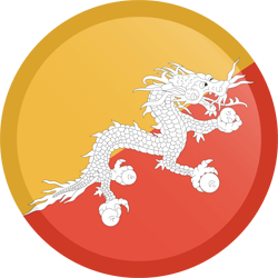 Flag of Bhutan - Button Round