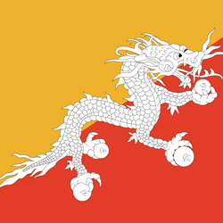 Flag of Bhutan - Square