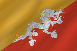 Flag of Bhutan - Wave