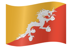 Flag of Bhutan - Waving