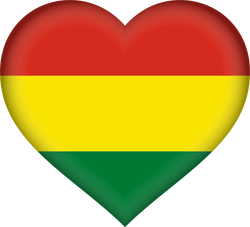 Flag of Bolivia - Heart 3D