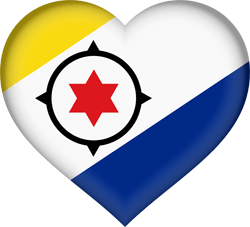 Flag of Bonaire - Heart 3D