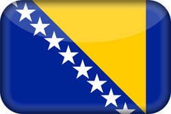 Bosnia and Herzegovina flag vector - free download