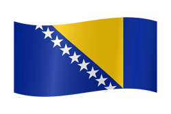 Bosnia and Herzegovina flag icon - free download