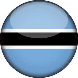 Botswana flag icon - free download