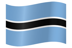 Botswana flag vector - free download