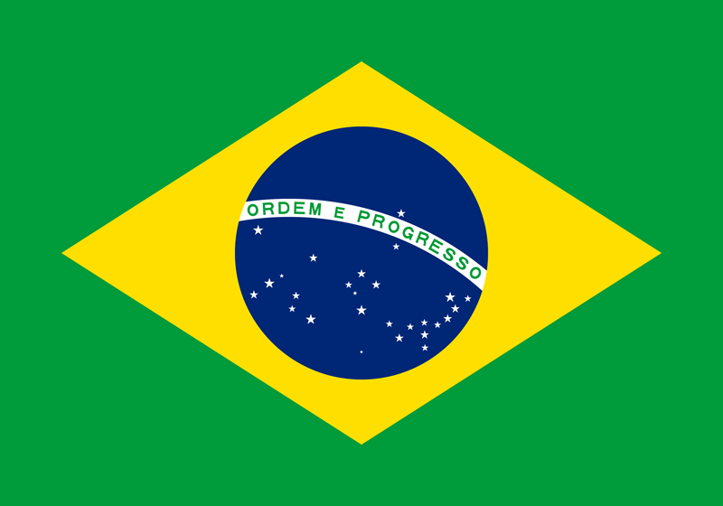 Brazil flag package