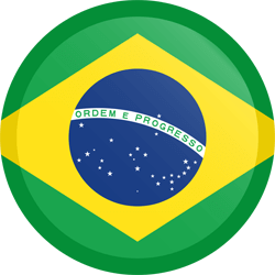 Flag of Brazil - Button Round