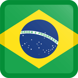 Flag of Brazil - Button Square